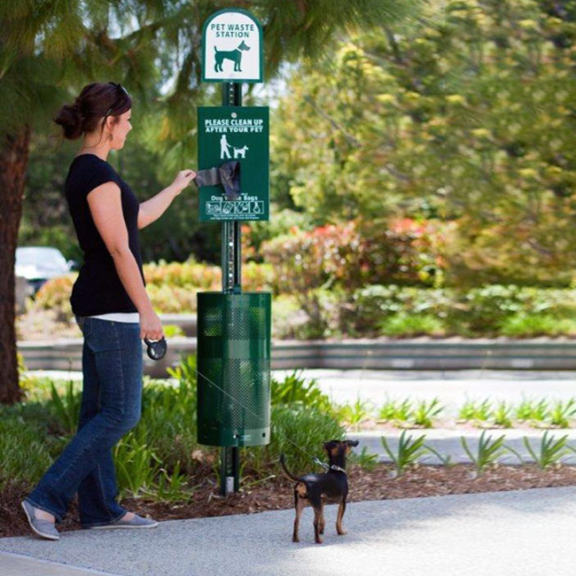 Outdoor Dog Poop Can