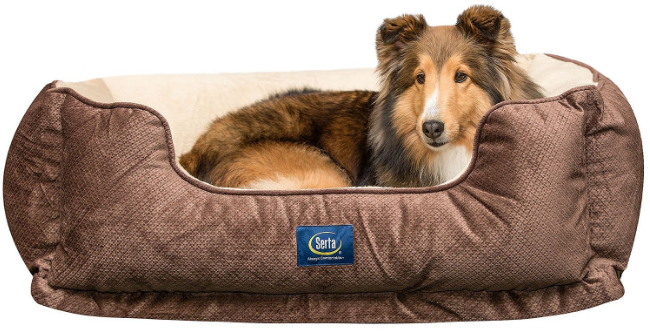 Pleasant Serta Perfect Sleeper Orthopedic Cuddler Pet Bed 34 X 24 Brown Theyellowbook Wood Chair Design Ideas Theyellowbookinfo